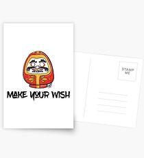 Make your wish - Daruma doll (RED) Postcards