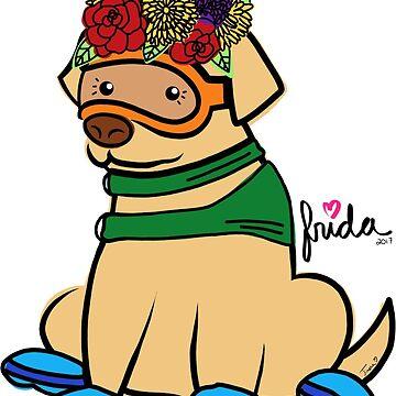 Frida Flowers by TandJart