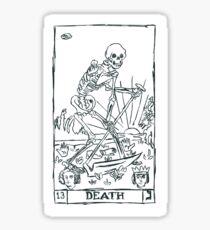 Tarot Death Card Sticker