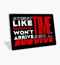 Write Like You're Running Out of Time (white on black) Laptop Skin