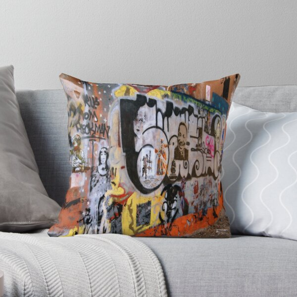 Urban Art Gallery Throw Pillow