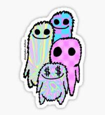 Colorful Fuzz Friends Sticker