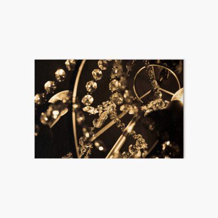 Starlight Starbright Sepia Crystal Chandelier Photograph Art Board Print