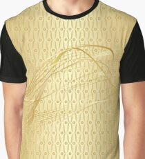 A Golden Structural Texture with A Smoke. Graphic T-Shirt