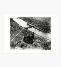 Aerial view of the cathedral in May 1945 Art Print