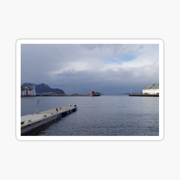 Looking Out On the Pier - Ålesund, Norway Sticker