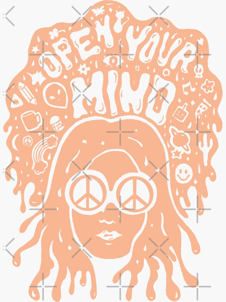 Open Your Mind in Orange by doodlebymeg