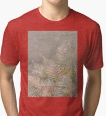 Fossil Rose Gold Fern on Brushed Stone Tri-blend T-Shirt