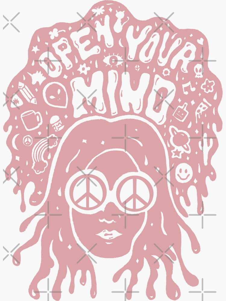 Open Your Mind in pink by doodlebymeg
