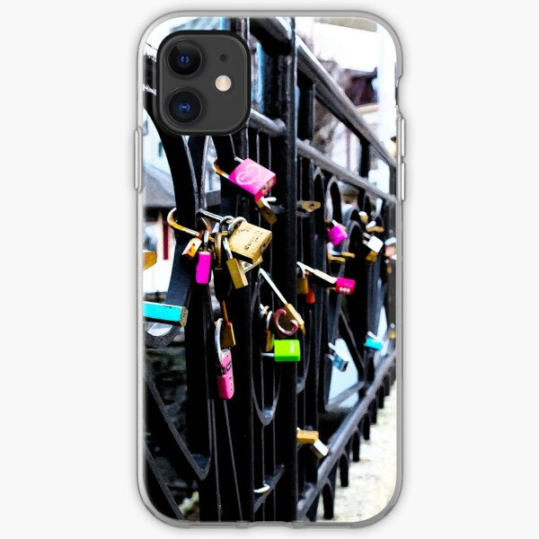 Locks of Love in Ålesund, Norway iPhone Soft Case