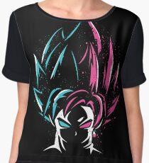 Super Saiyan Blue and Super Saiyan Rose Women's Chiffon Top