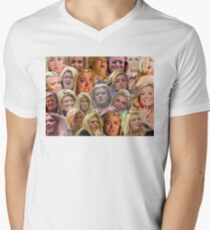 THE MANY MOODS OF GEMMA COLLINS  Men's V-Neck T-Shirt