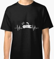 Cat Sleeping Lazy Heart Frequenzy  Classic T-Shirt