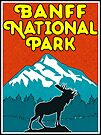 Banff National Park Canada Mountains Moose Vintage by MyHandmadeSigns