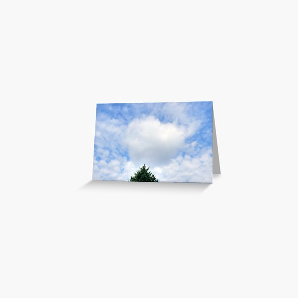 Valentine's Heart Cloud Greeting Card