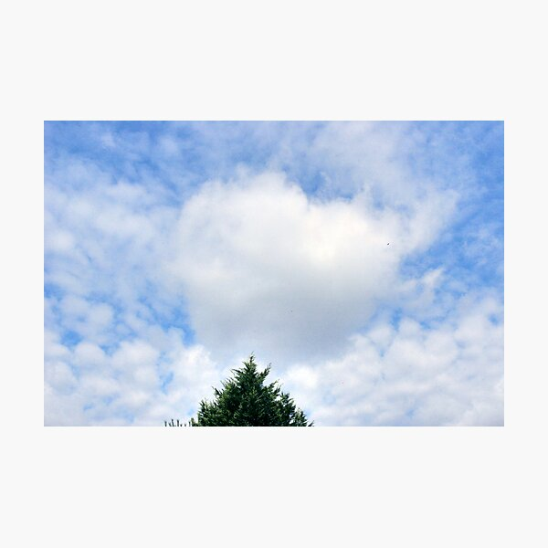 Valentine's Heart Cloud Photographic Print