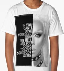Ru Paul Text Portrait Long T-Shirt