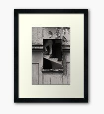 Window of opportunity. Framed Print