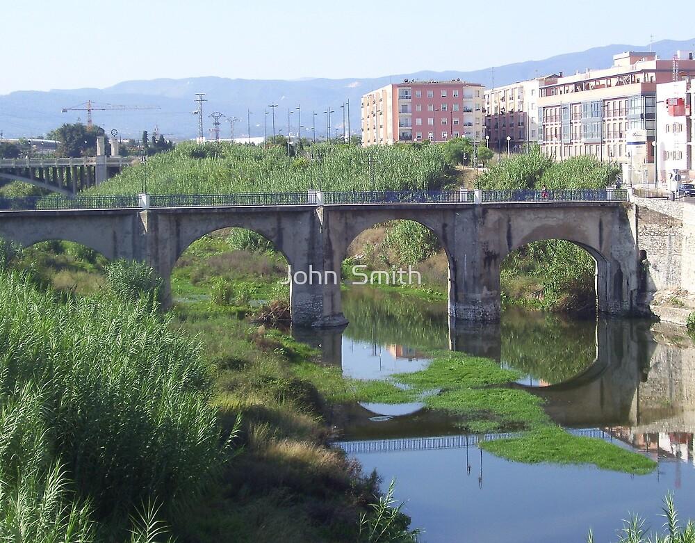 """""""Bridge over Rio Serpis"""" by John  Smith"""