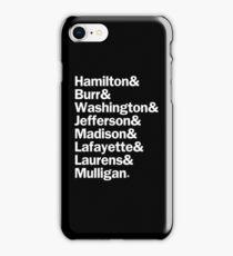 Hamilton - Characters Last Names | White iPhone Case/Skin