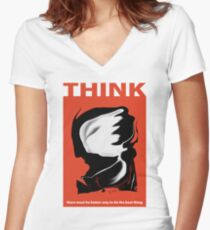 Think 2 Women's Fitted V-Neck T-Shirt