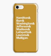 Hamilton - Characters Last Names | White & Color iPhone Case/Skin