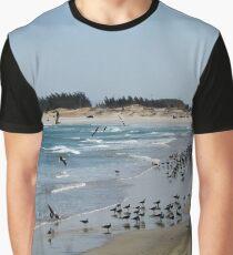 Dark Beach Graphic T-Shirt