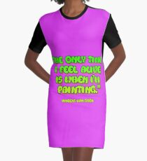 Time painting equals living Graphic T-Shirt Dress