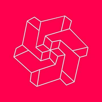Minimal /  Chakra Symbol Art / Optical Illusion Star by badbugs