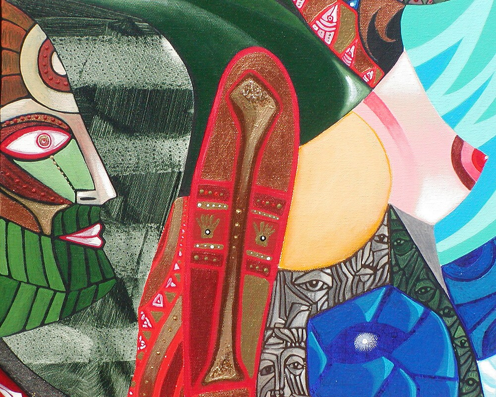 The Shaman Behind Us (detail) by arteology