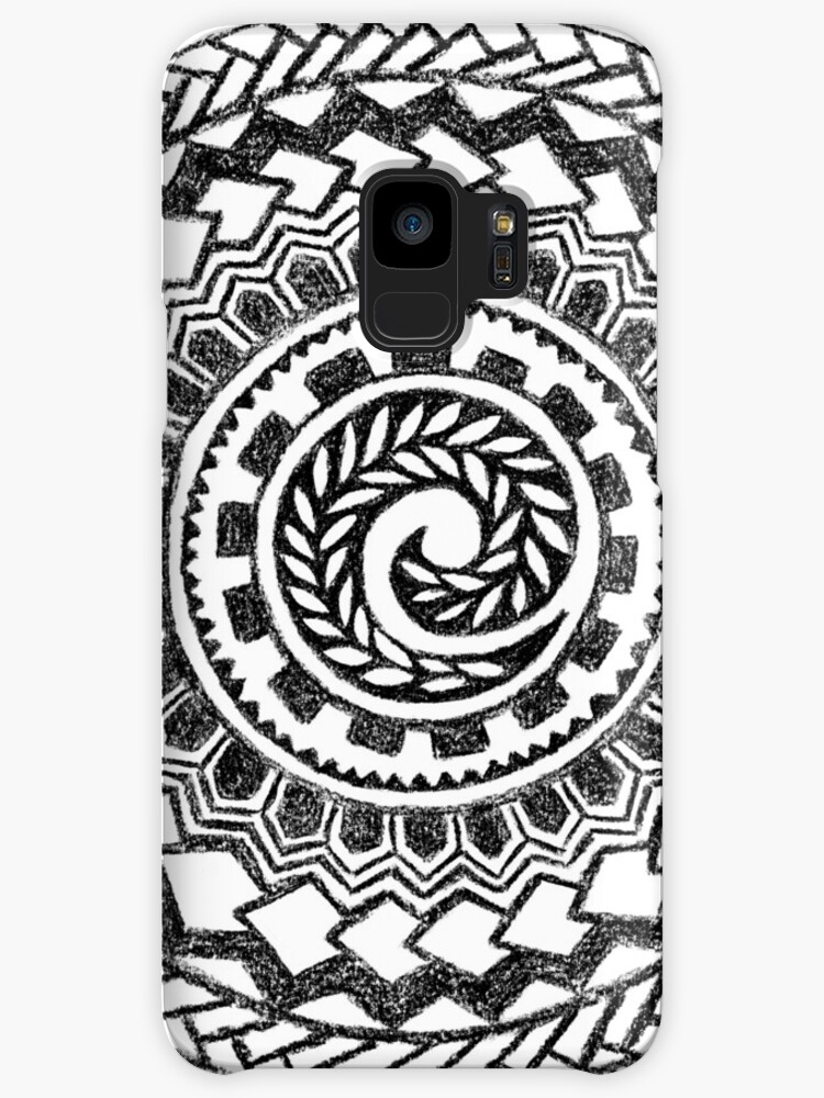 retro colorful 60s 70s polynesian tattoo black cases skins for Hippie Clothing retro colorful 60s 70s polynesian tattoo black by ayelet fleming