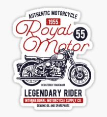 Motorcycle Retro Vintage Sticker