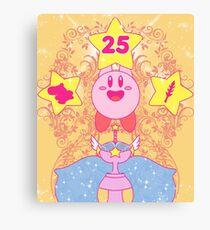 Kirby 25th Anniversary Canvas Print
