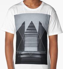 The Hotel (experimental futuristic architecture photo art in modern black & white) Long T-Shirt