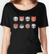 Animinimal mix (black) Women's Relaxed Fit T-Shirt