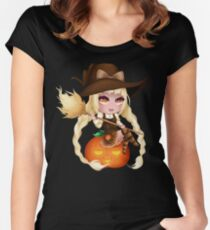 Punkin Chibi Witch - 2017 Women's Fitted Scoop T-Shirt