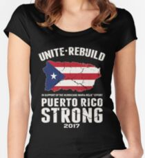 PLEASE HELP THE PEOPLE OF PUERTO RICO!! Women's Fitted Scoop T-Shirt