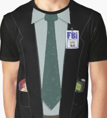 Alien-Hunting FBI Agent Costume T-Shirt - The X-Files, Fox Mulder, Halloween Costume Graphic T-Shirt