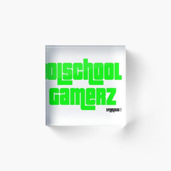 Olschool Gamerz Neon Green Acrylic Block
