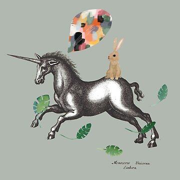 Unicorn Rainbow  by JessesMess