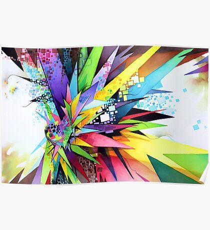 Angular Degeneration - Watercolor Poster