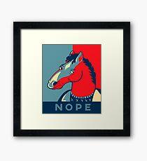 Nope Horse Framed Print