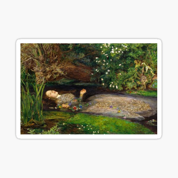 Ophelia Painting by John Everett Millais  Sticker