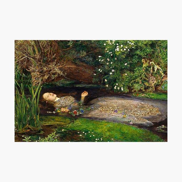 Ophelia Painting by John Everett Millais  Photographic Print