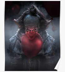 PENNYWISE WITH BALLOONS Poster