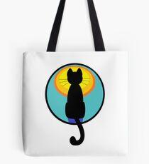 Sunrise Sunset Cat Tote Bag