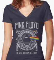 Pink Floyd - Dark Side of the Moon Tour Women's Fitted V-Neck T-Shirt