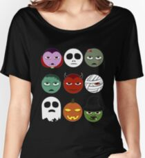 Funny Halloween Emoji Women's Relaxed Fit T-Shirt