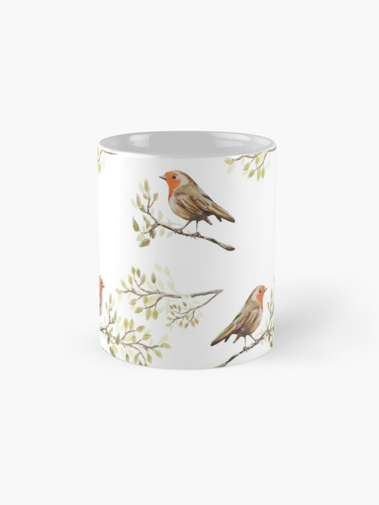 Alternate view of Watercolour European Robin & Branches Pattern Mug