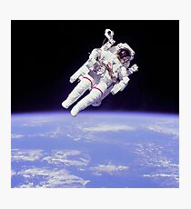 Astronaut Floating in Space Photographic Print
